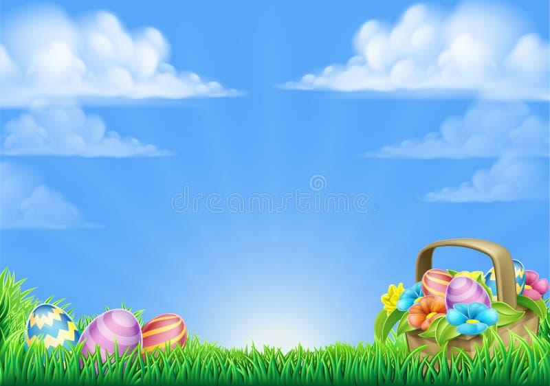 De Achtergrond van de Paaseierenmand vector illustratie