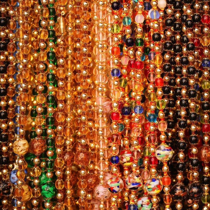 De achtergrond van parels Juwelen van Murano-Glas stock fotografie