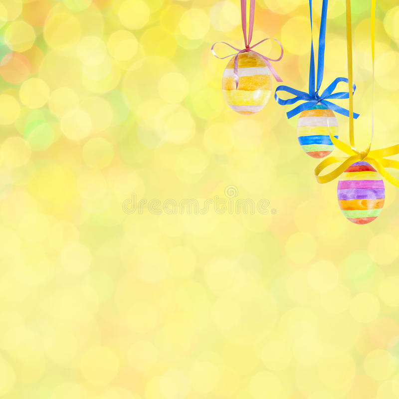 De achtergrond van Pasen bokeh royalty-vrije illustratie