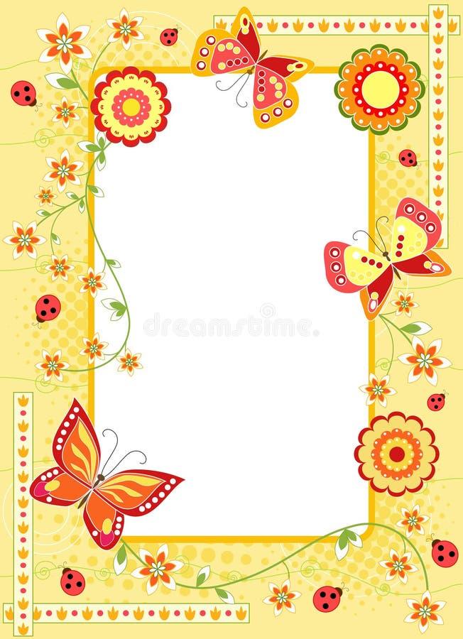 De achtergrond van Pasen van de lente. royalty-vrije illustratie
