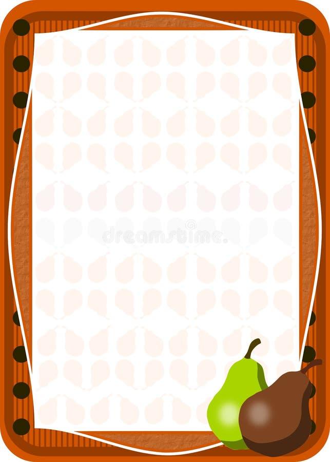De achtergrond van peren vector illustratie
