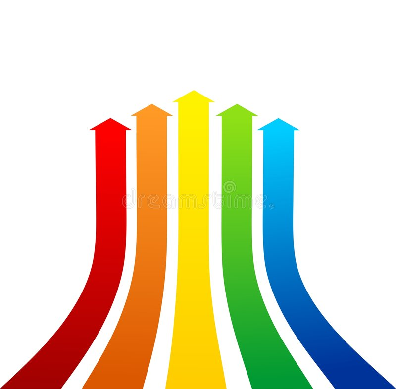 De achtergrond van pijlen stock illustratie