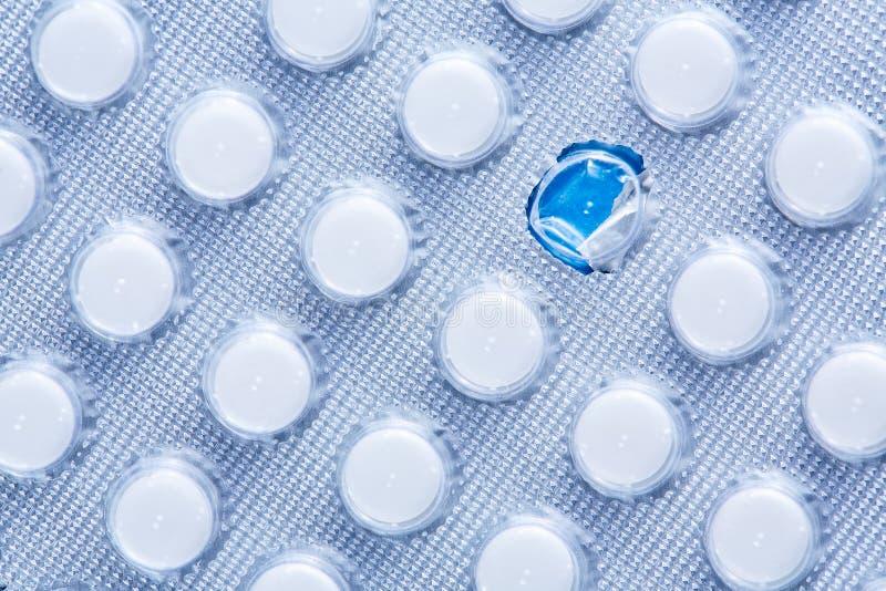 De achtergrond van pillen  Vertragingen en wapens De ruimte van het exemplaar stock fotografie