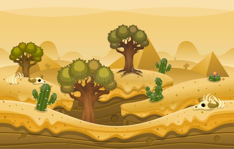 De Achtergrond van de piramidewoestijn royalty-vrije illustratie