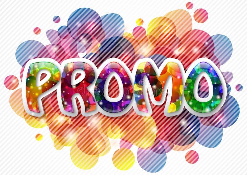 De achtergrond van Promo royalty-vrije illustratie