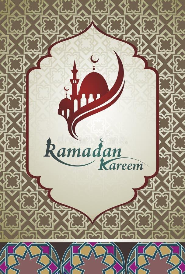 De achtergrond van Ramadangroeten stock illustratie