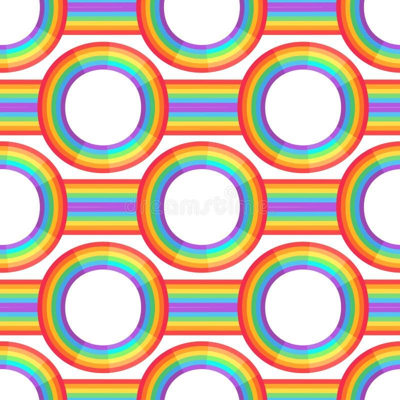 De achtergrond van de regenboog Retro naadloos patroon de geïnspireerde jaren '50 en de jaren '60 Naadloze abstracte Uitstekende  vector illustratie