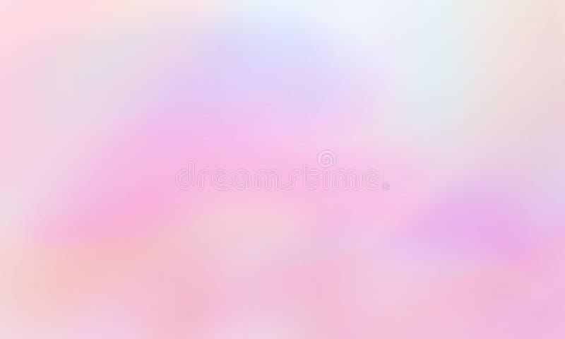 De achtergrond van de regenboogprinses, zachte roze dageraad maakte in realistische stijl met het knippen van masker De hemel pea royalty-vrije illustratie