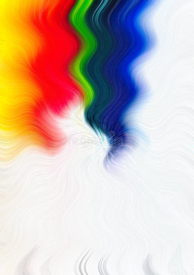 De achtergrond van de regenboogwaterverf, ruimte voor tekst vector illustratie