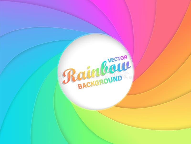 De achtergrond van de regenboogwerveling royalty-vrije illustratie