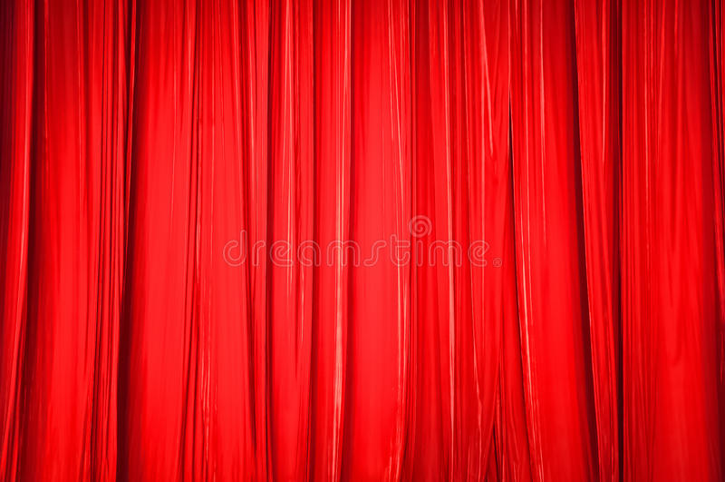 De achtergrond van rood gordijn royalty-vrije stock fotografie