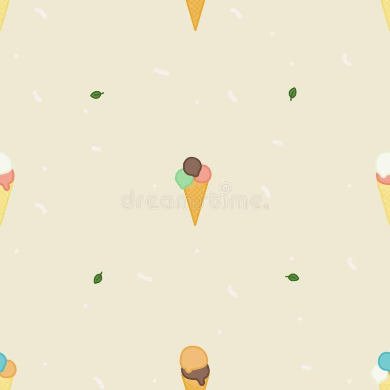 De achtergrond van roomijskegels vector illustratie