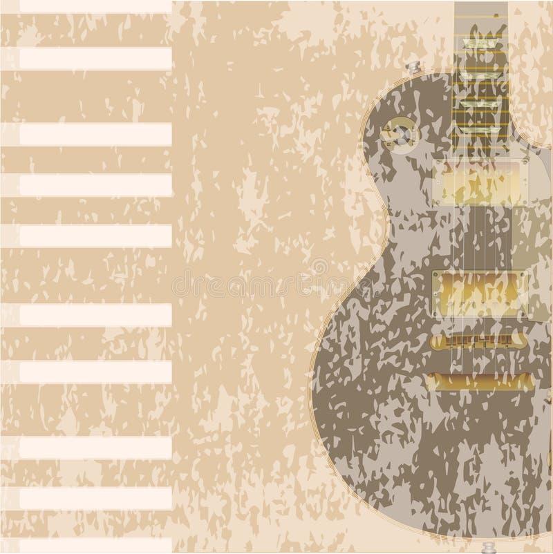 De Achtergrond van rotsinstrumenten royalty-vrije illustratie