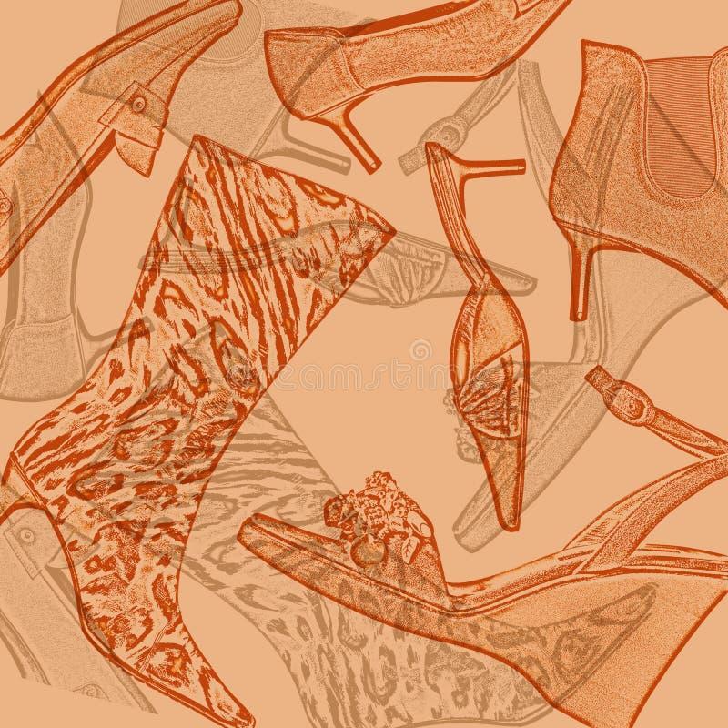De achtergrond van schoenen stock afbeeldingen