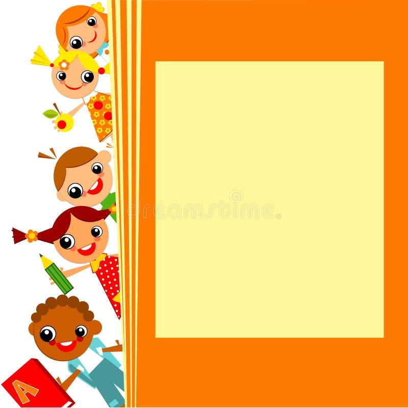 De achtergrond van schoolkinderen stock illustratie
