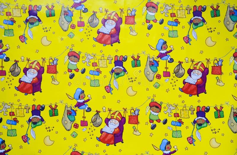 De Achtergrond Van Sinterklaas Stock Fotografie