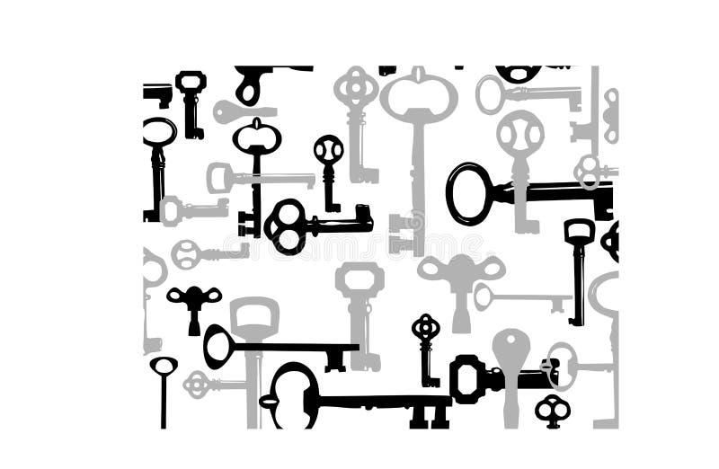 De achtergrond van sleutels royalty-vrije illustratie