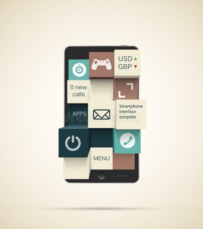 De achtergrond van Smartphone apps stock illustratie