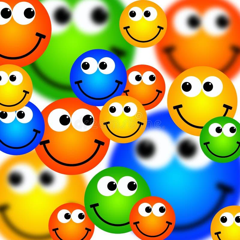 De achtergrond van Smileys stock illustratie