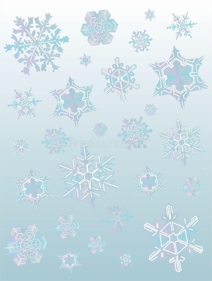 De achtergrond van sneeuwvlokken vector illustratie