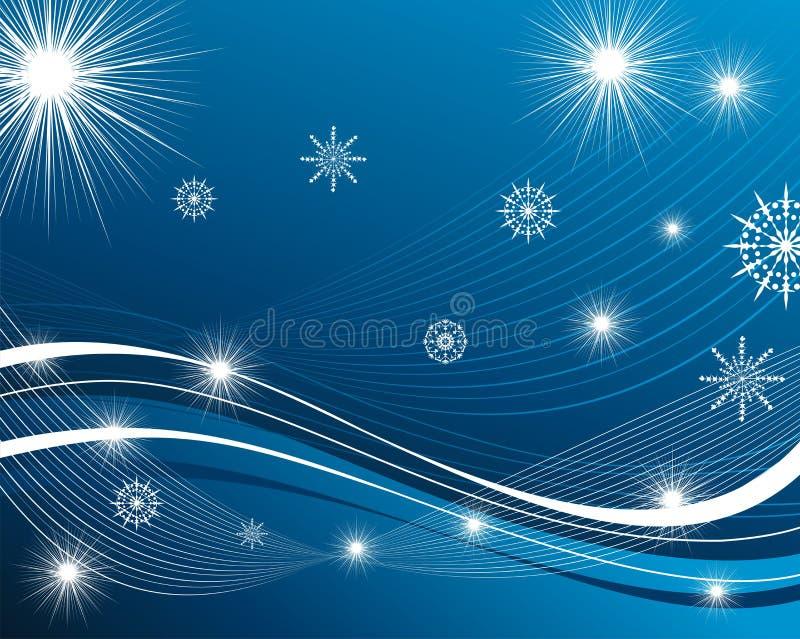 De achtergrond van sneeuwvlokken stock illustratie