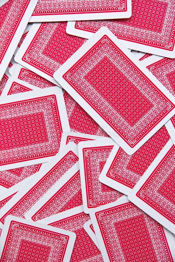 De achtergrond van speelkaarten royalty-vrije stock afbeeldingen