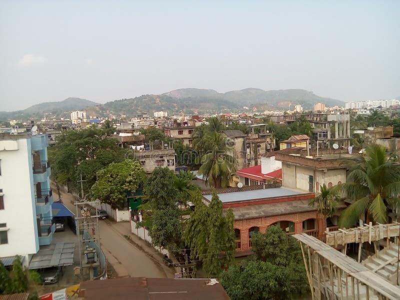 De achtergrond van de stad stock fotografie