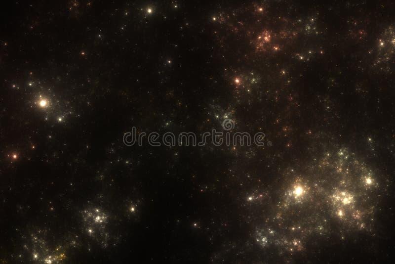 De Achtergrond van Starfield royalty-vrije illustratie