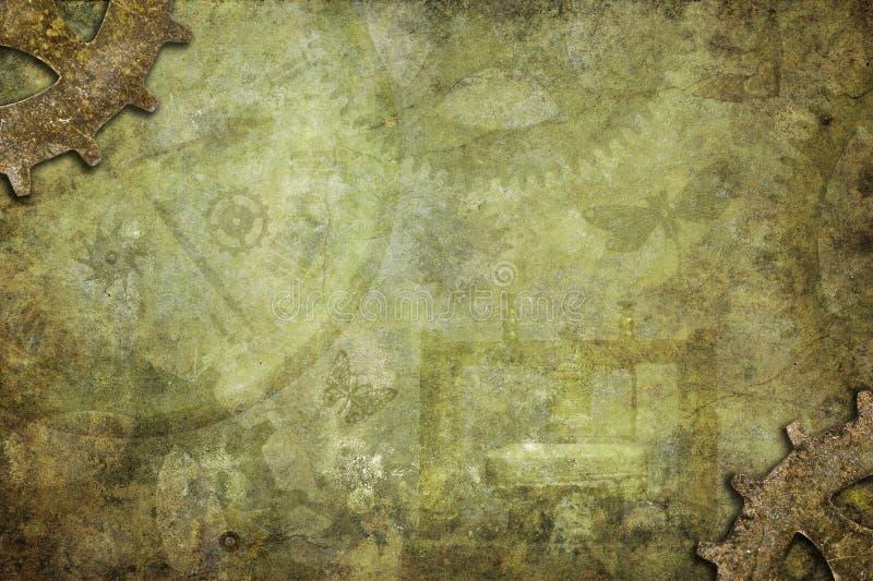De Achtergrond van de Steampunktextuur stock afbeeldingen