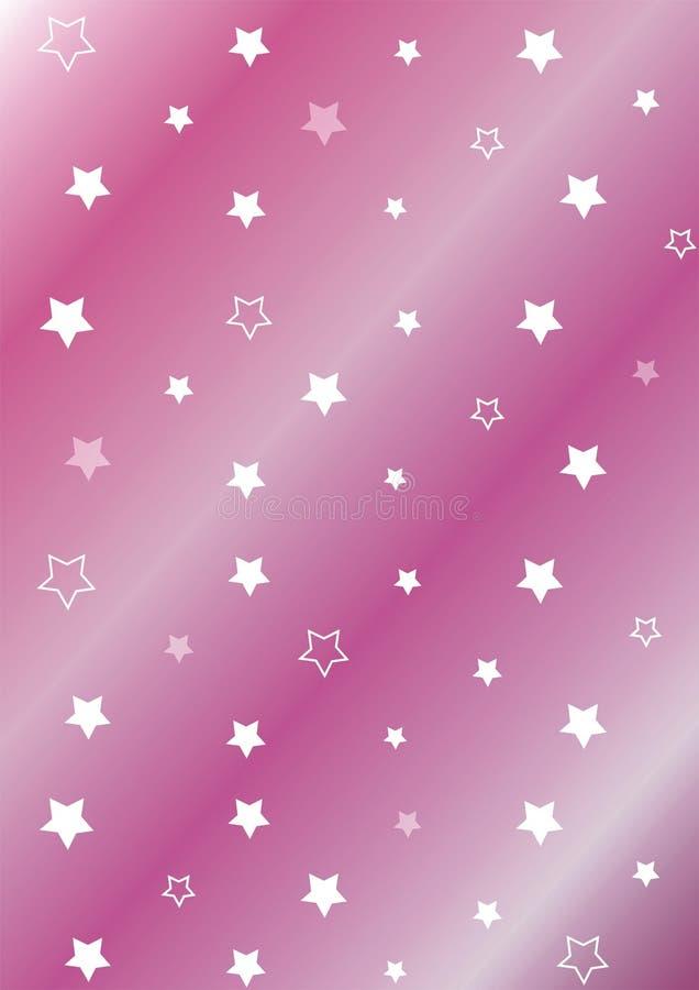 De achtergrond van sterren stock illustratie