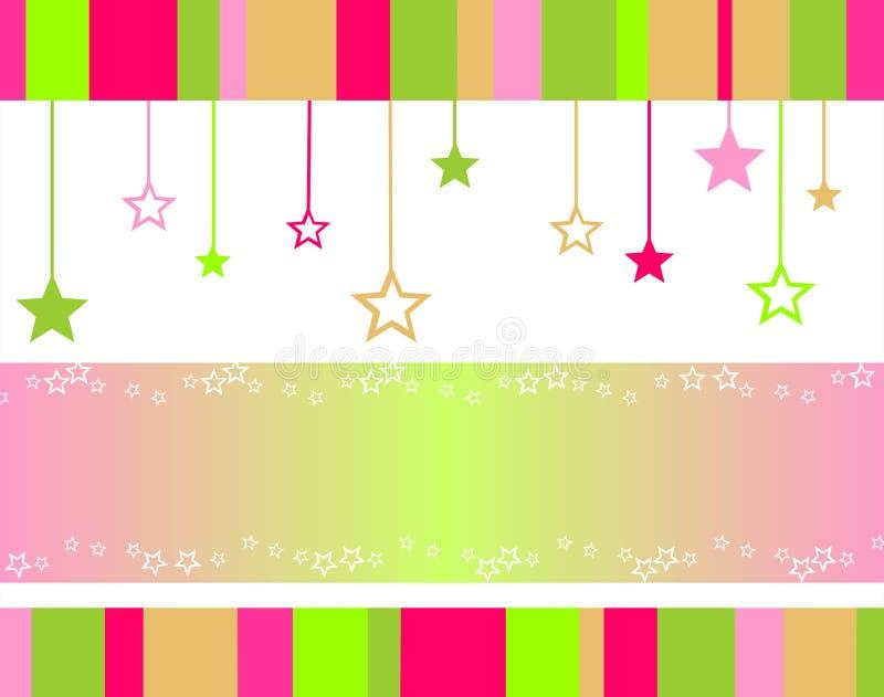 De achtergrond van sterren vector illustratie