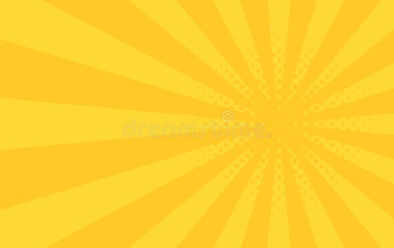 De achtergrond van stralen illustratie voor uw helder stralenontwerp Het thema abstract behang van de zonstraal Deze jongen houdt stock illustratie