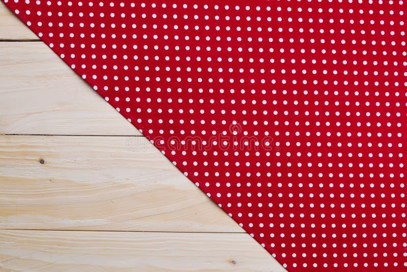 De achtergrond van tafelkleed wordt gemaakt dat stock afbeelding