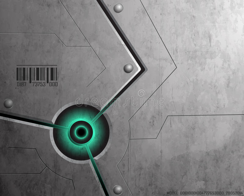 De achtergrond van Techno stock illustratie
