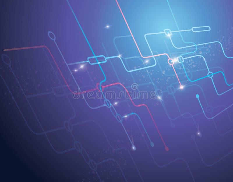 De achtergrond van technologie royalty-vrije illustratie