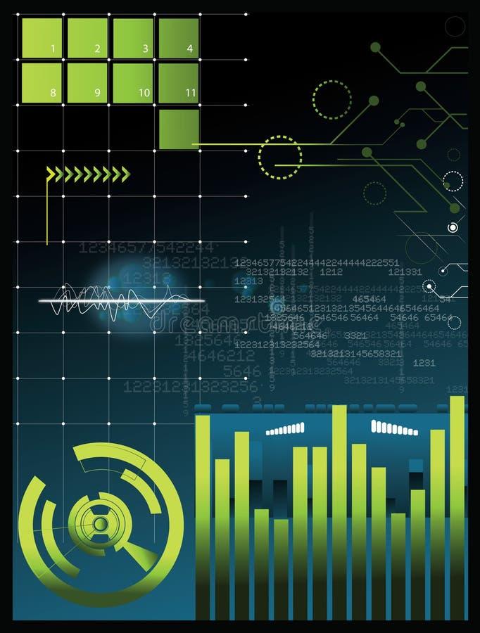 De achtergrond van technologie vector illustratie
