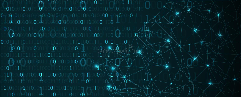 De achtergrond van de technologie Binaire computercode Vector Illustratio stock illustratie