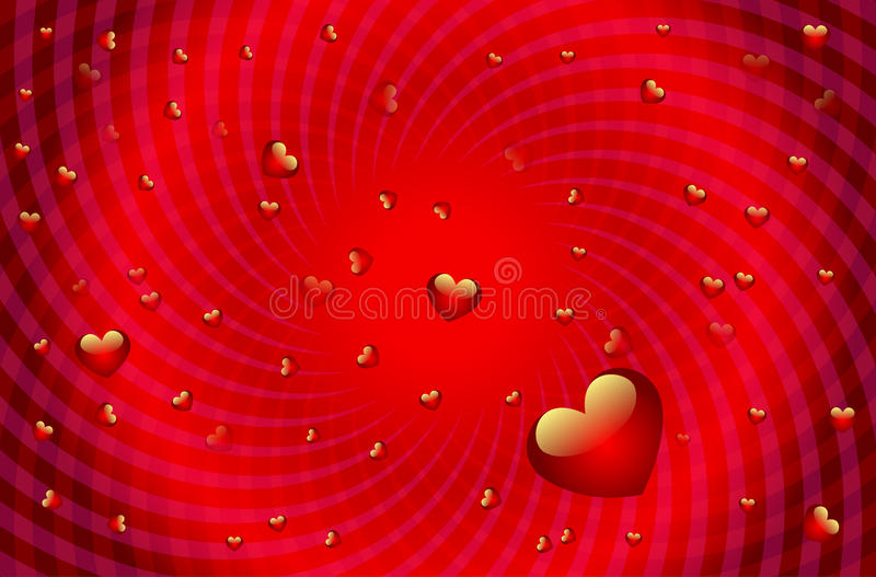 De achtergrond van valentijnskaarten royalty-vrije illustratie