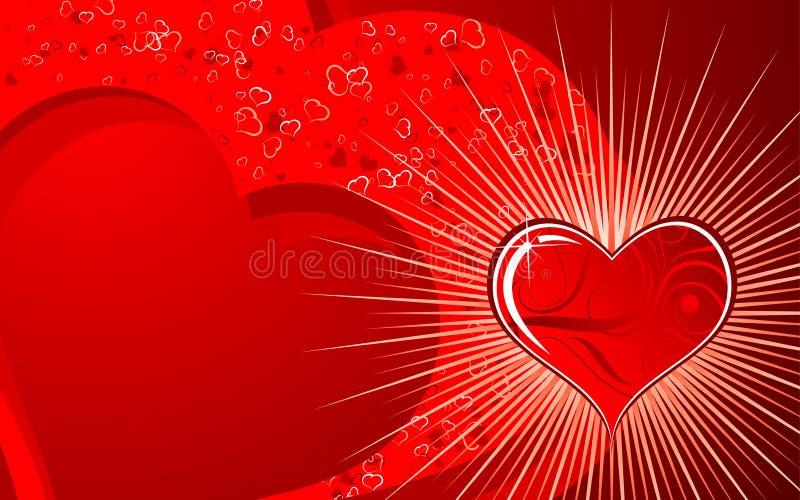 De achtergrond van valentijnskaarten vector illustratie