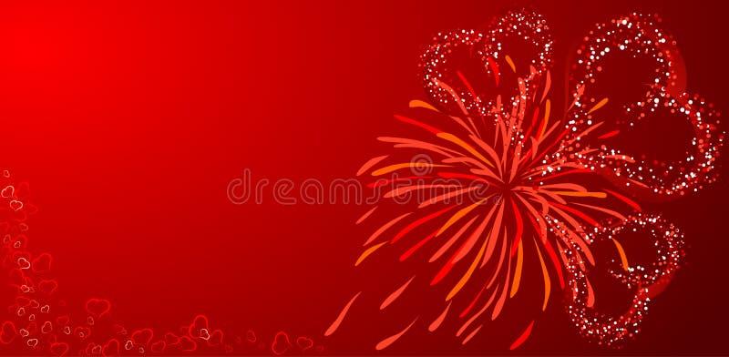 De achtergrond van valentijnskaarten, vector vector illustratie