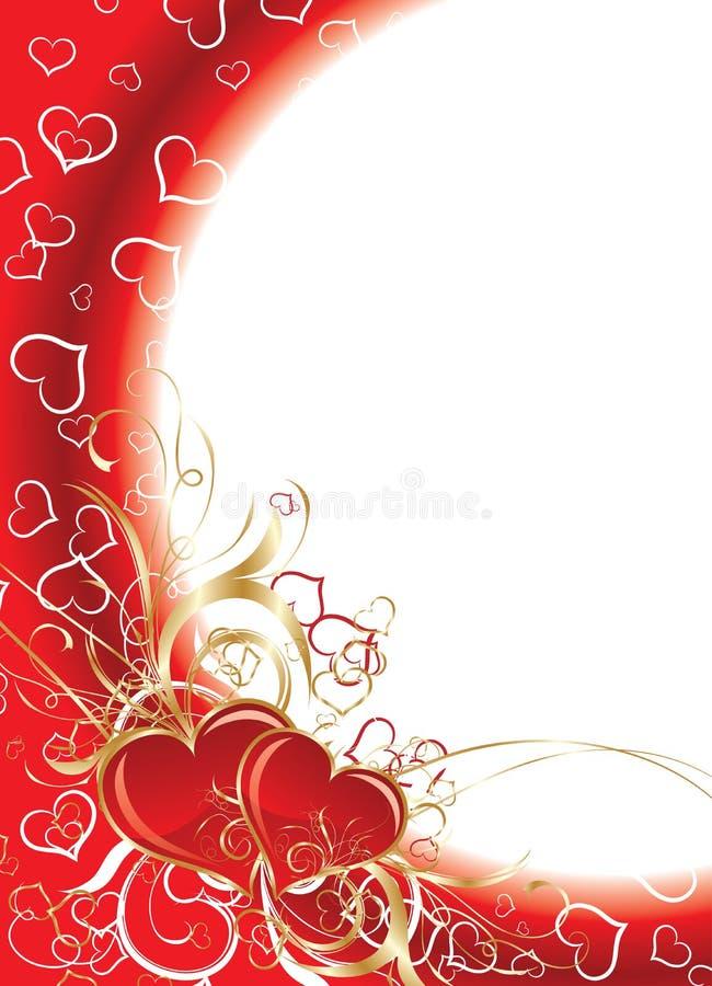 De achtergrond van valentijnskaarten, vector stock illustratie