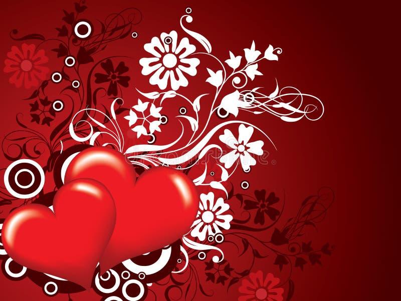 De achtergrond van valentijnskaarten, vector royalty-vrije illustratie