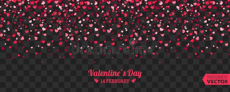 De achtergrond van de valentijnskaartendag van het Rode Harten Vallen stock illustratie