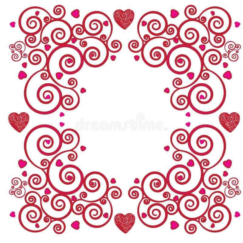 De achtergrond van Valentine stock illustratie