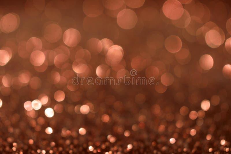 De achtergrond van Valentine Day Brown Glitter van het Kerstmisnieuwjaar Stof van de vakantie de abstracte textuur Element, flits royalty-vrije stock foto