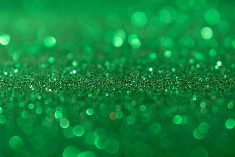 De achtergrond van Valentine Day Green Glitter van het Kerstmisnieuwjaar Stof van de vakantie de abstracte textuur Element, flits royalty-vrije stock afbeelding