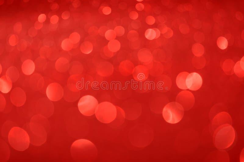 De achtergrond van Valentine Day Red Glitter van het Kerstmisnieuwjaar Stof van de vakantie de abstracte textuur Element, flits royalty-vrije stock afbeelding