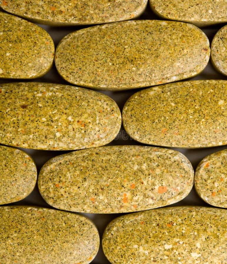 De achtergrond van vitaminen stock fotografie