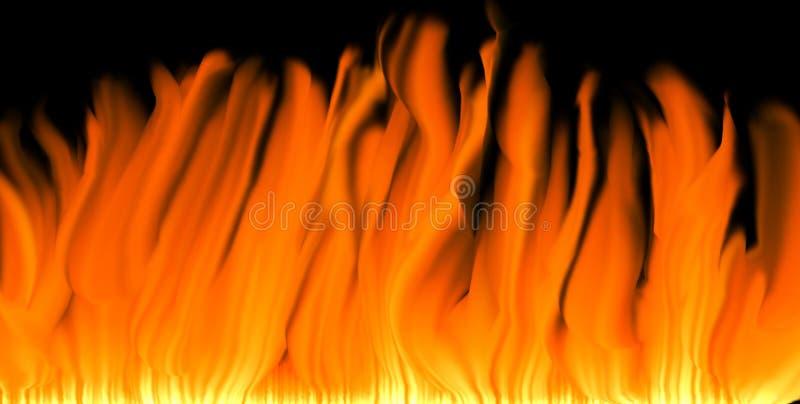 De achtergrond van vlammen vector illustratie