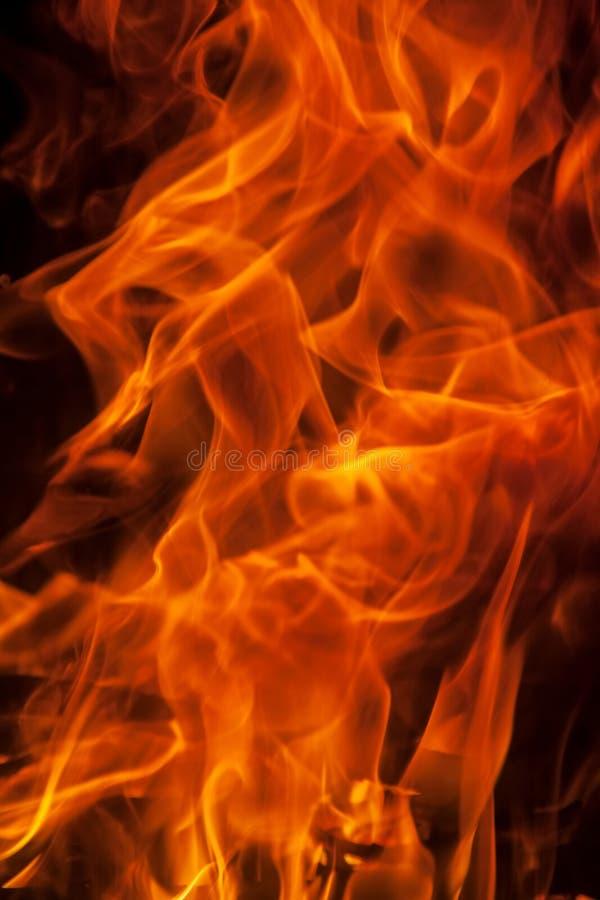 De achtergrond van de de vlamtextuur van de uitbarstingsbrand stock afbeelding